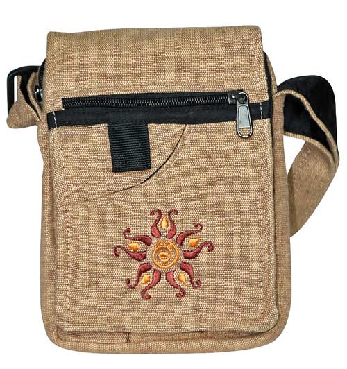 """MJ-9  -  4 Pocket Sol Hand Bag Assorted Colors 7"""" x 9"""""""