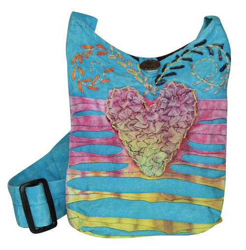 """X4-13  -  Small Sweetheart Hand Bag Assorted Colors 8"""" x 9"""""""