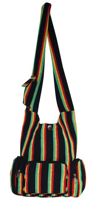 """H9-13  -  Rasta 3 Pocket Hand Bag 16"""" x 14"""""""