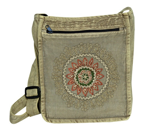 Original Henna design on a cotton bag with adjustable strap