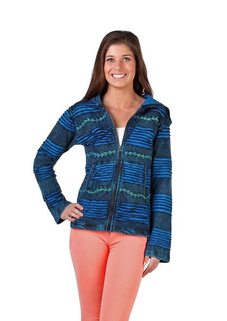 Awesome 2 tone Blue Jacket with stitching