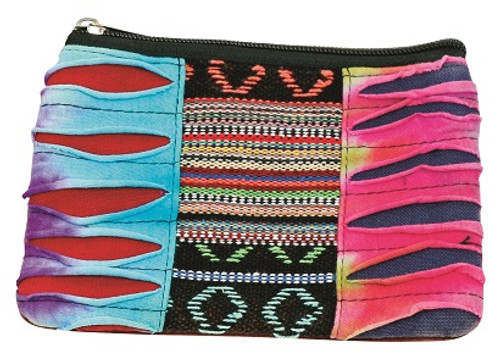 Cool coin purse with patchwork front