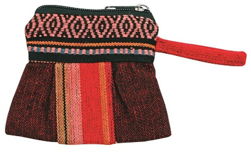 Coin purse with beautiful hand loomed material