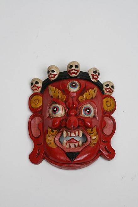"Traditional Nepalese Bairobi Mask. Made in Nepal - 7"" x 9"""
