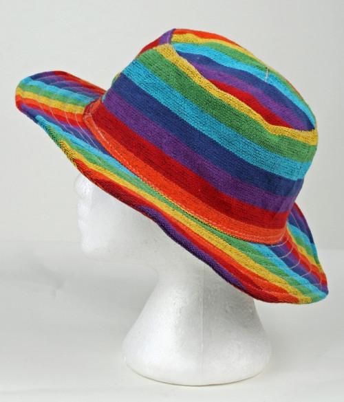 Cotton Rainbow Hat with secret pocket