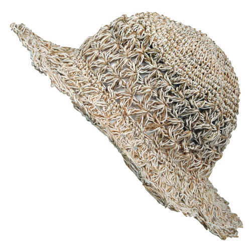 Crocheted Hemp Hat with secret pocket inside top