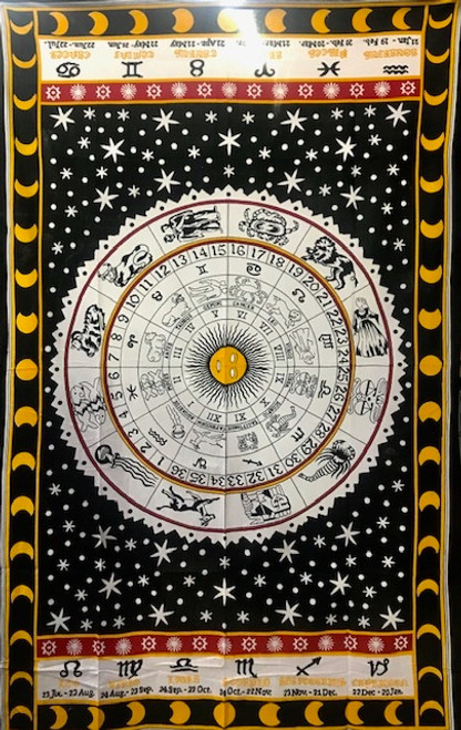 "Zodiac Tapestry - 100% cotton - single size 51"" x 87"""