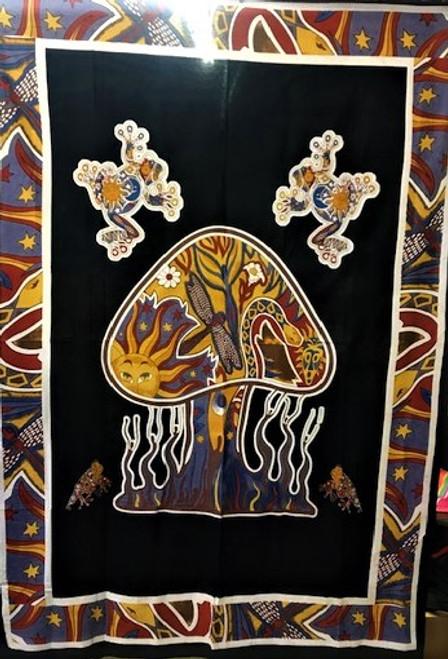 "Mushroom Tapestry - single - 51"" x 87"""