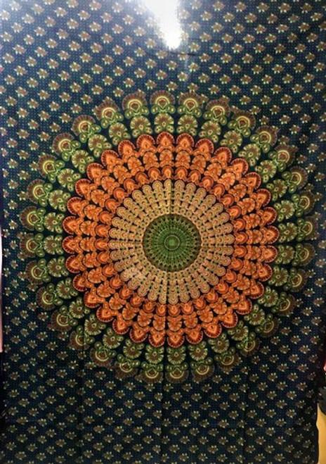 Mandala Tapestry - Green assorted designs