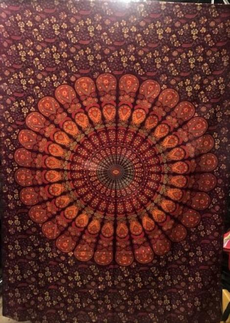 """Mandala Tapestry - 100% cotton single size 51"""" x 87"""""""