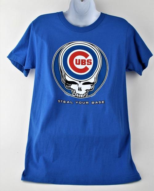 "100% Cotton - Cubs ""Steal Your Base"" - Liquid Blue"