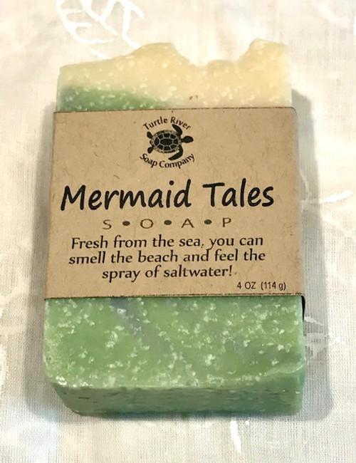 Natural Hand Made Soap - MERMAID TALES - beach, saltwater