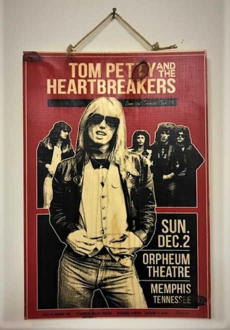 Tom Petty Wood Wall Hanging