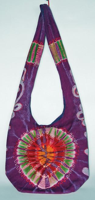 "H6-2  -  Tie Dye Blitz Hand Bag Assorted Colors 16"" X 14"""