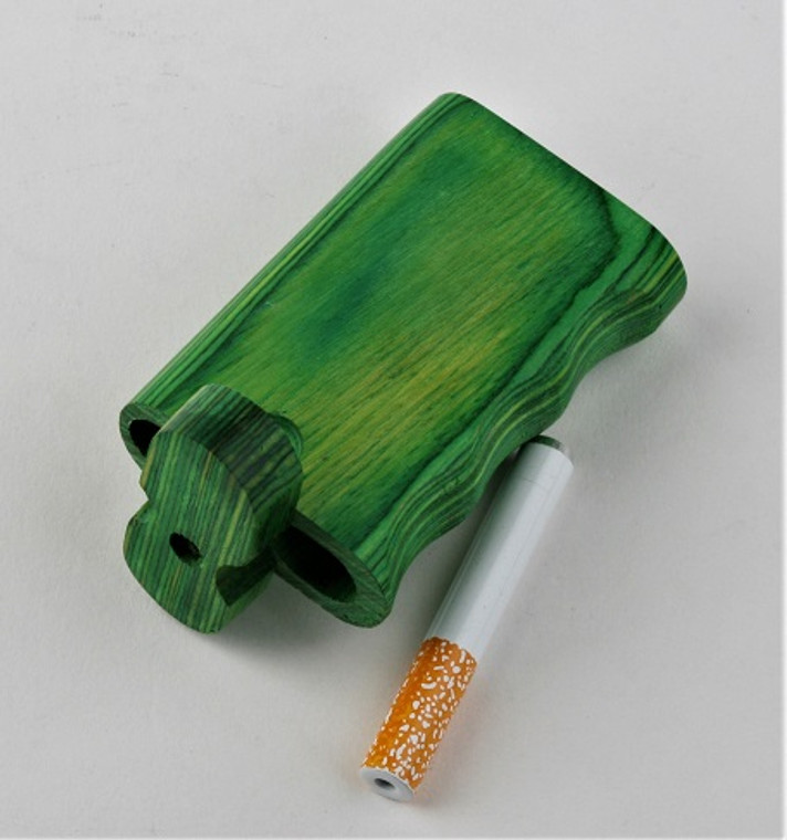 Wood Dug Out - metal cigarette - 2  1/4 inch
