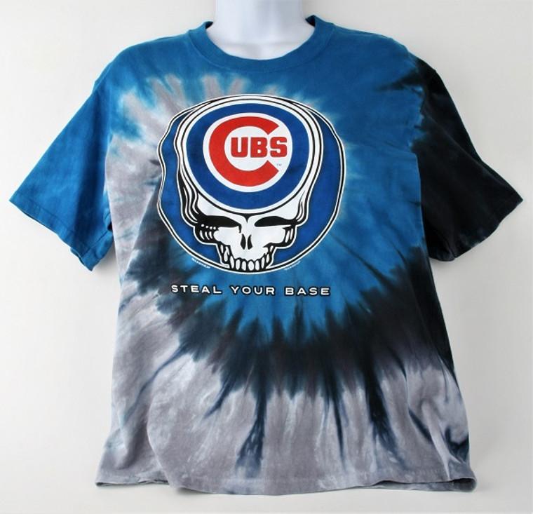 "Cubs ""Steel Your Base"" Tie Dye Cotton T-Shirt"
