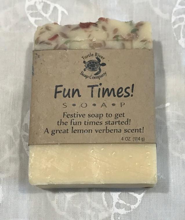 Natural Hand Made Soap - FUN TIMES - lemon verbena