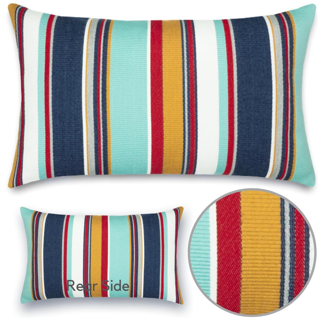 sicily stripe lumbar outdoor pillow by elaine smith