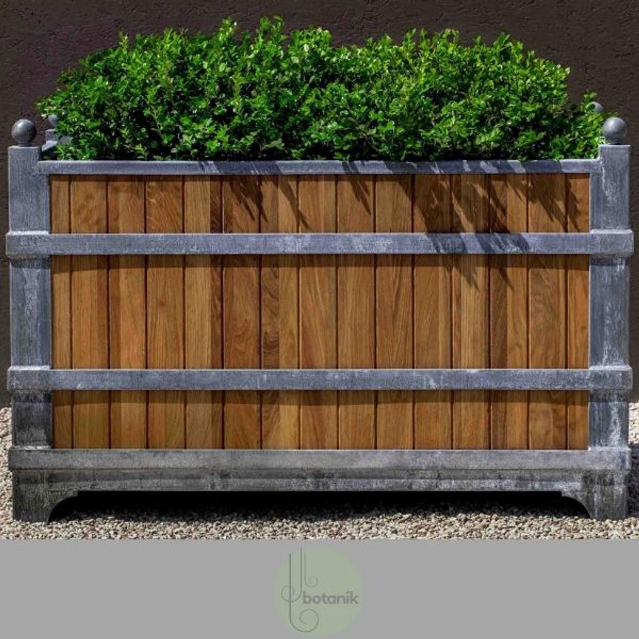 Picture of: Manoir Oak Zinc Rectangular Planter