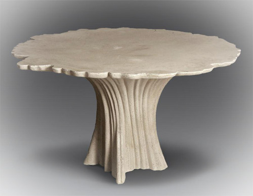 Lightweight Concrete Cypress Table