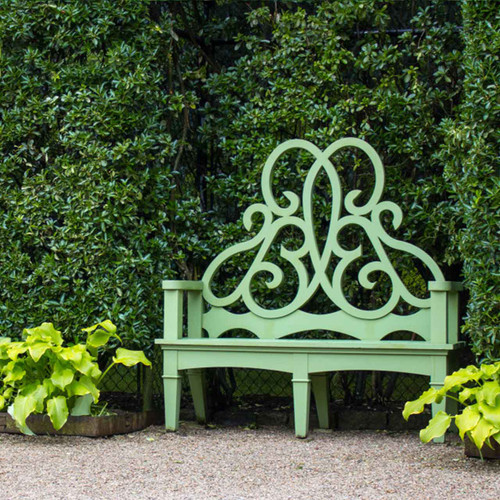 Topiary Bench in garden setting