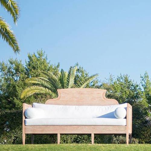 Alys Scroll Sofa with  Sunbrella Bright White