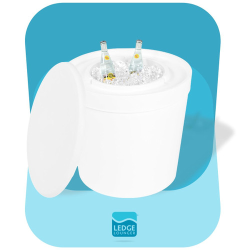 Ledge Lounger Ice Bin Table in White