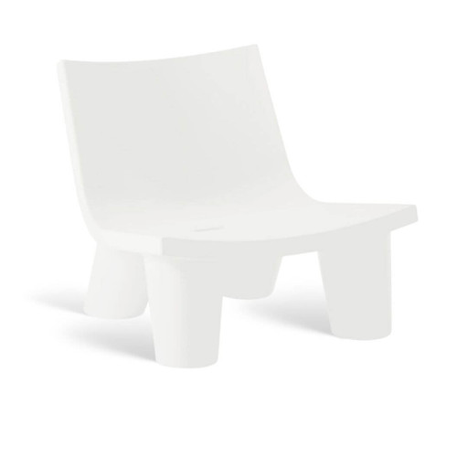 Low Lita Milky White Armchair