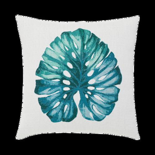 Lichen Leaf Outdoor Pillow by Elaine Smith