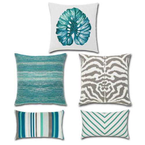 AQUA Collection Pillows from Elaine Smith