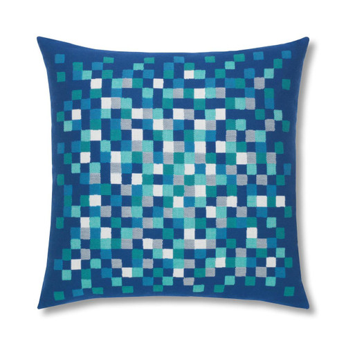 Cobalt Pixel Pillow for the Pool