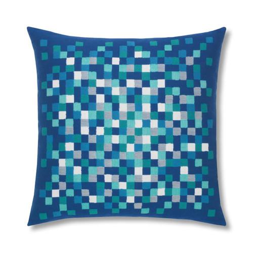 Cobalt Pixel Pillow for the Pool