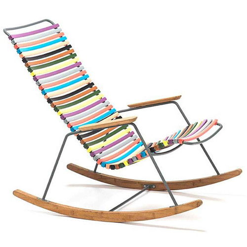 Multi Color Click Collection Rocking Chair