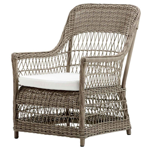 Dawn Lounge Chair with White Cushion