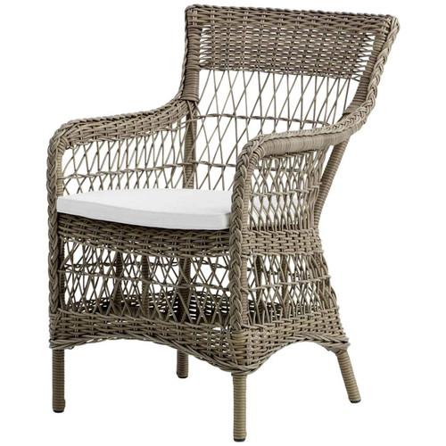 Marie Armchair with White Cushion