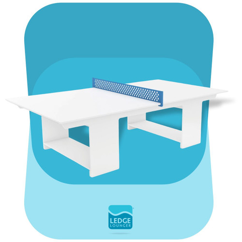 Ledge Lounger Outdoor Ping Pong Table