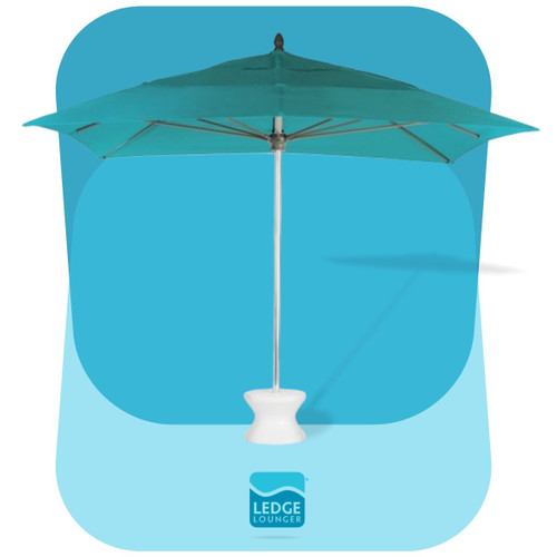 Select Square Ledge Lounger Outdoor Pool Umbrella