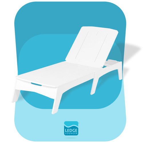 Ledge Lounger Mainstay Chaise White