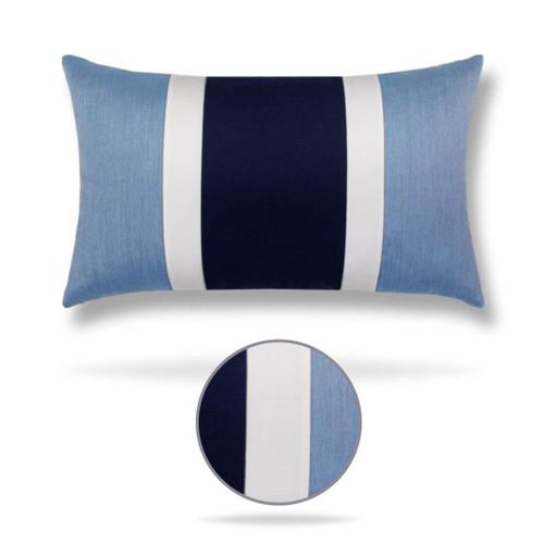 Nevis Blue Lumbar Front