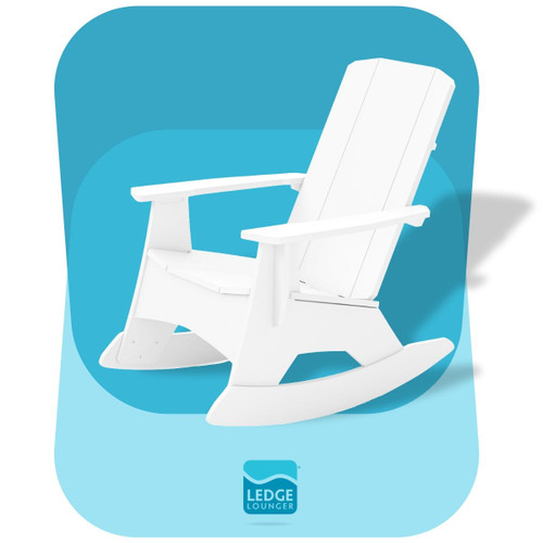 Ledge Lounger Adirondack Rocker White