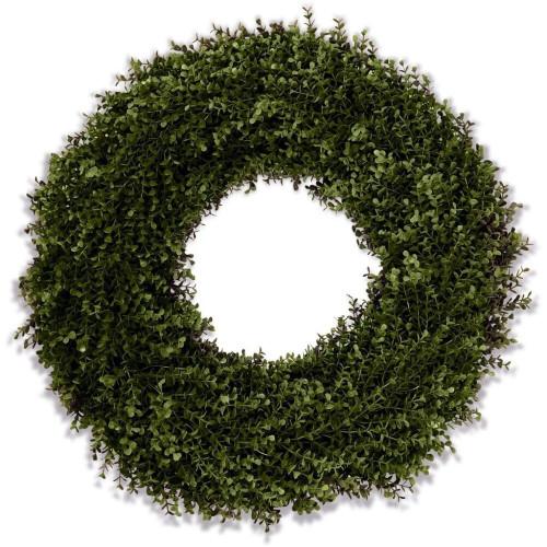 Double Sided Lush Boxwood Wreath