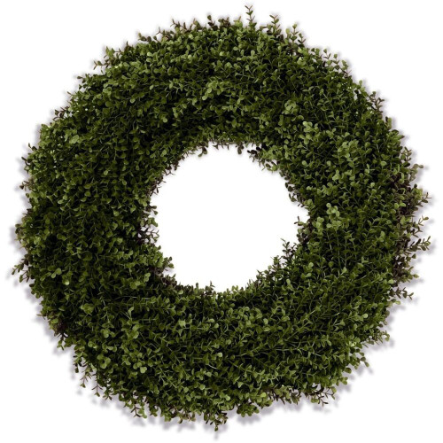 Double Sided Lush Boxwood Wreath