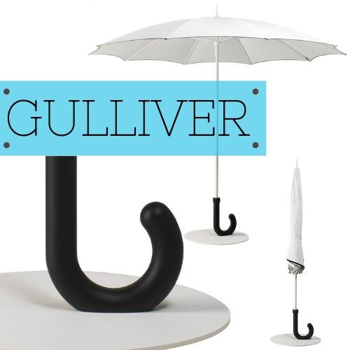 Gulliver Umbrella Has a Unique Base that is eye catching
