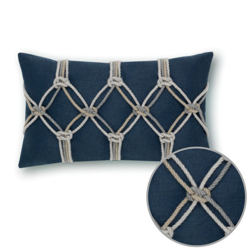 Indigo Lumbar Pillow by Elaine Smith