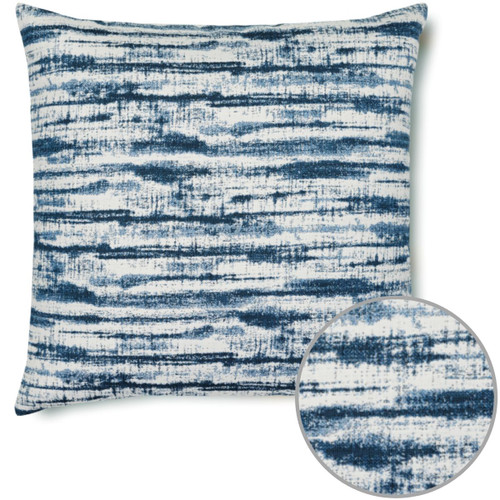 Linear Indigo Pillow and Zoom Inset