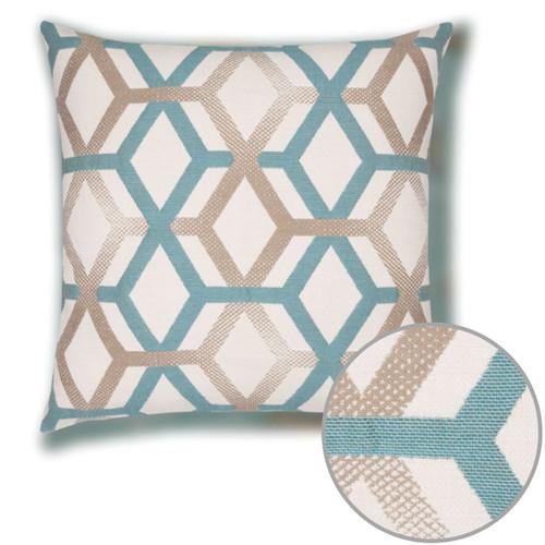 Lagoon Lines Pillow Detail