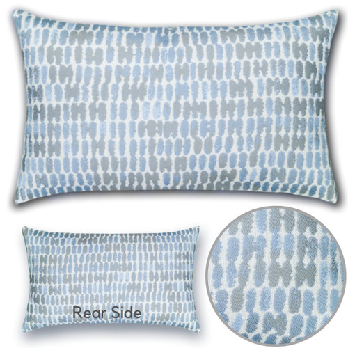 Thumbprint Lumbar Pillow Detail