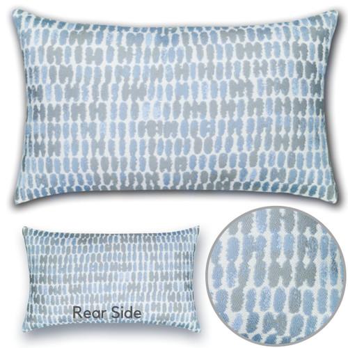 Thumbprint Lumbar Pillow Detail