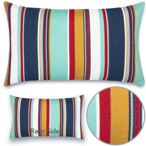 Sicily Stripe Lumbar Pillow Details