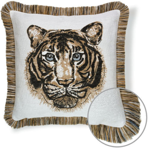 Bengal Fringed Outdoor Pillow LSU